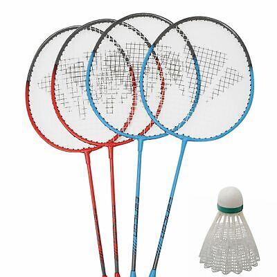 Carlton Unisex 4 Player Badminton Set Rackets & Shuttlecocks Net & Poles Bag