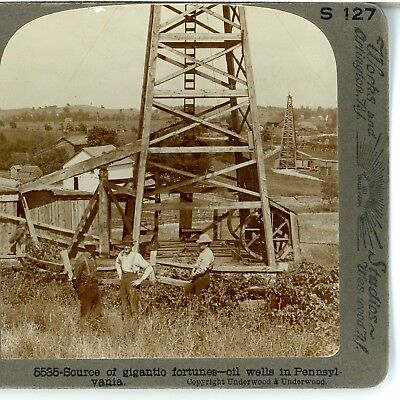 Pennsylvania  Oil Wells  Source Of Gigantic Fortunes  Underwood  5535