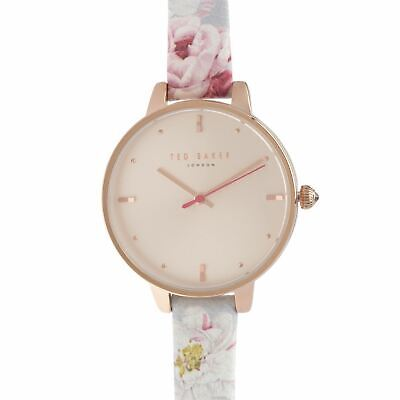 Womens Ted Baker Floral Strap Watch New