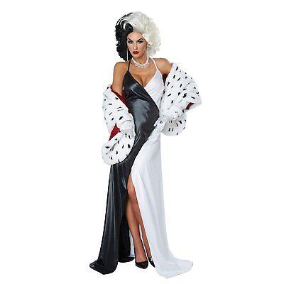 101 Dalmatians - Cruel Diva - Cruella De Vil Adult Costume