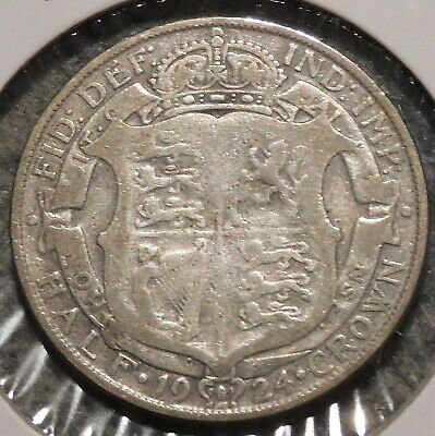 British Silver Half Crown - 1924 - King George V - $1 Unlimited Shipping