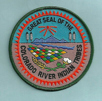 COLORADO RIVER ARIZONA INDIAN TRIBAL SEAL PATCH