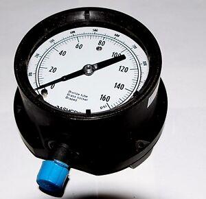 Ashcroft Duragauge 45 1379as 04 4 1 2 Pressure Gauge 160 Psi