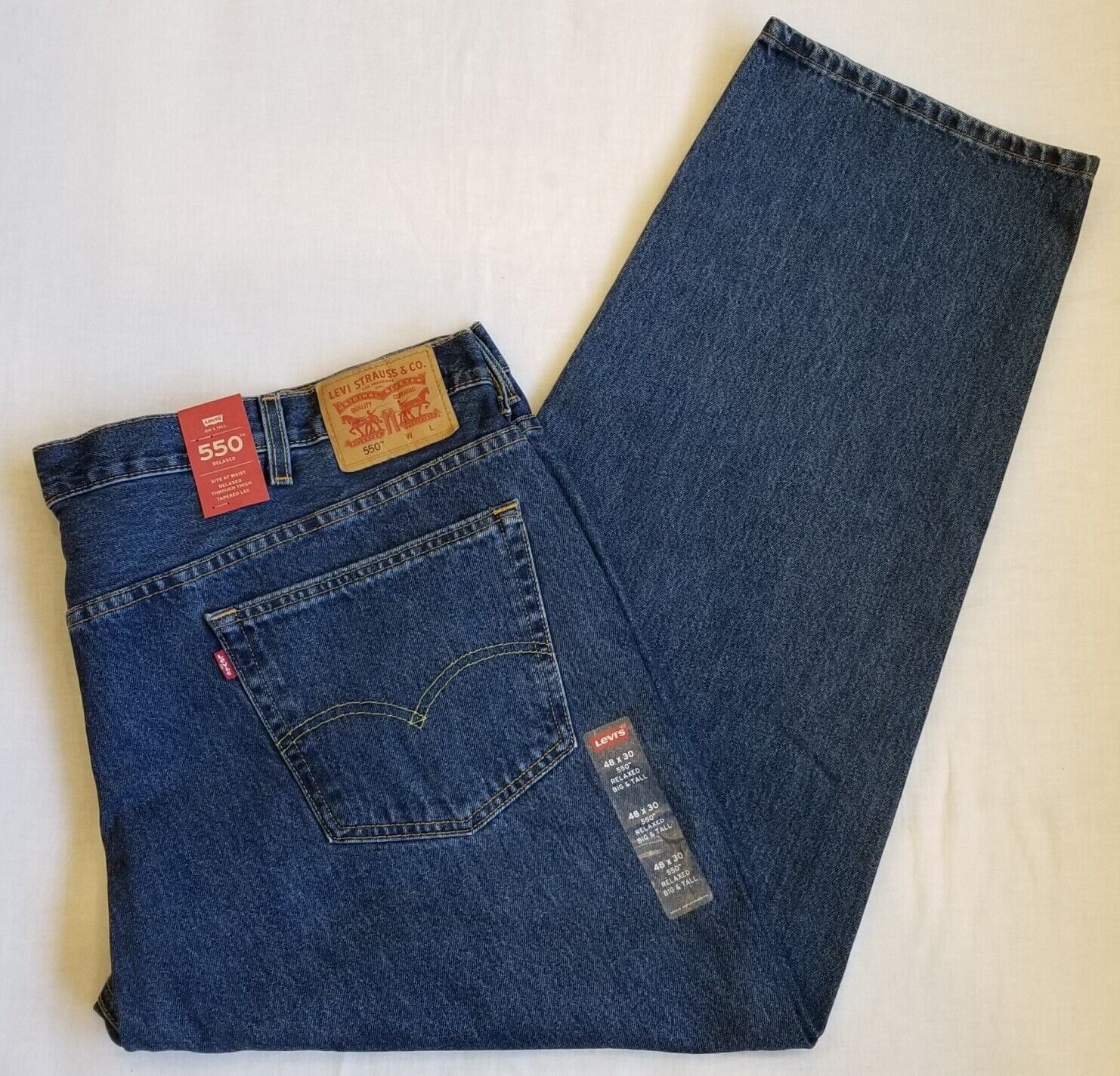 New Levi Strauss 550 Relaxed Fit Jeans Denim Pants Mens Size