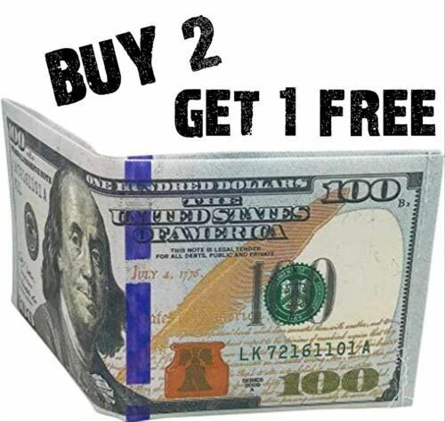 $100 Hundred Dollar Bill Wallet Money Thin Bi-Fold Card Holder - US SELLER