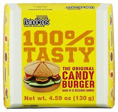 9 Raindrops Candy gumi Gummy HAMBURGER in Box party favor bar mitzvah birthday](Bar Mitzvah Favor)