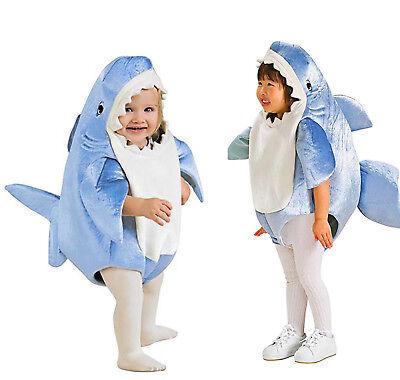 Kids Little Shark Cosplay Costume Stage Fancy Jumpsuit Halloween For Boys Girls - Shark Costume For Child