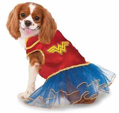 DC Comics Wonder Woman Hero Dog Costume Tutu Dress Animal Cat Pet XS SM MD LG XL
