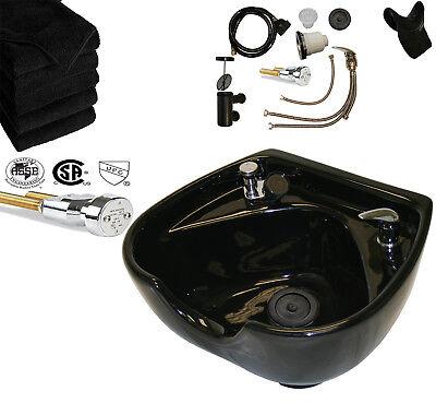 CERAMIC Heart Shape Round Shampoo Bowl Sink Barber Spa Beauty Salon Equipment Round Bowl Shape