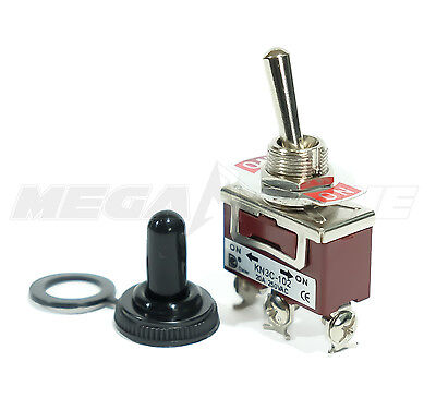 Toggle Switch Heavy Duty 20a125v Spdt On-on Wwaterproof Boot... Usa Seller