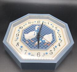 New Haven Quartz Blue Ribbon Geese Wall Clock