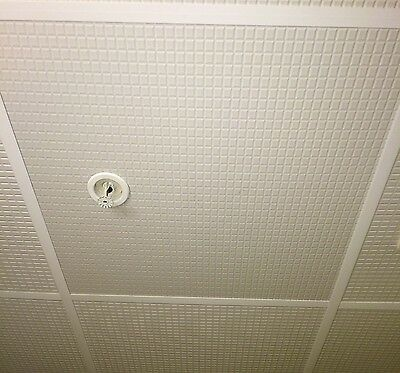 Drop Ceiling Tile - Ecotile Ingot 2 X 2 White Waterproof Lay-in Washable