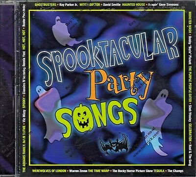 SPOOKTACULAR PARTY SONGS: MUSIC FOR YOUR HALLOWEEN PARTY! CLASSIC K-TEL CD! - Song For Halloween