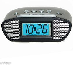La Crosse 31015 Super Loud Battery Powered Compact Digital Alarm Clock Backlight