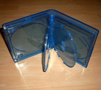 Blu Ray Hülle Vierfach 4fach 4-fach blau Blu-Rays Blue Ray 4er 15mm Neu