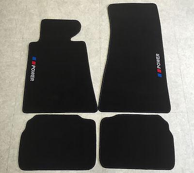 Velours beige Fußmatten passend für BMW 5er E34 87-96
