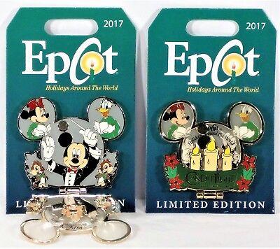 Disney Christmas 2017 Epcot Holidays Candlelight Processional Hinged Pin Le 4000