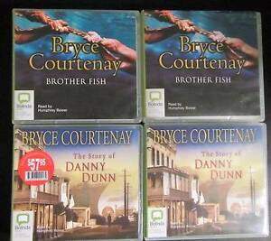 Audio Books - Bryce Courtenay, Brother Fish & Danny Dunn Armadale Armadale Area Preview
