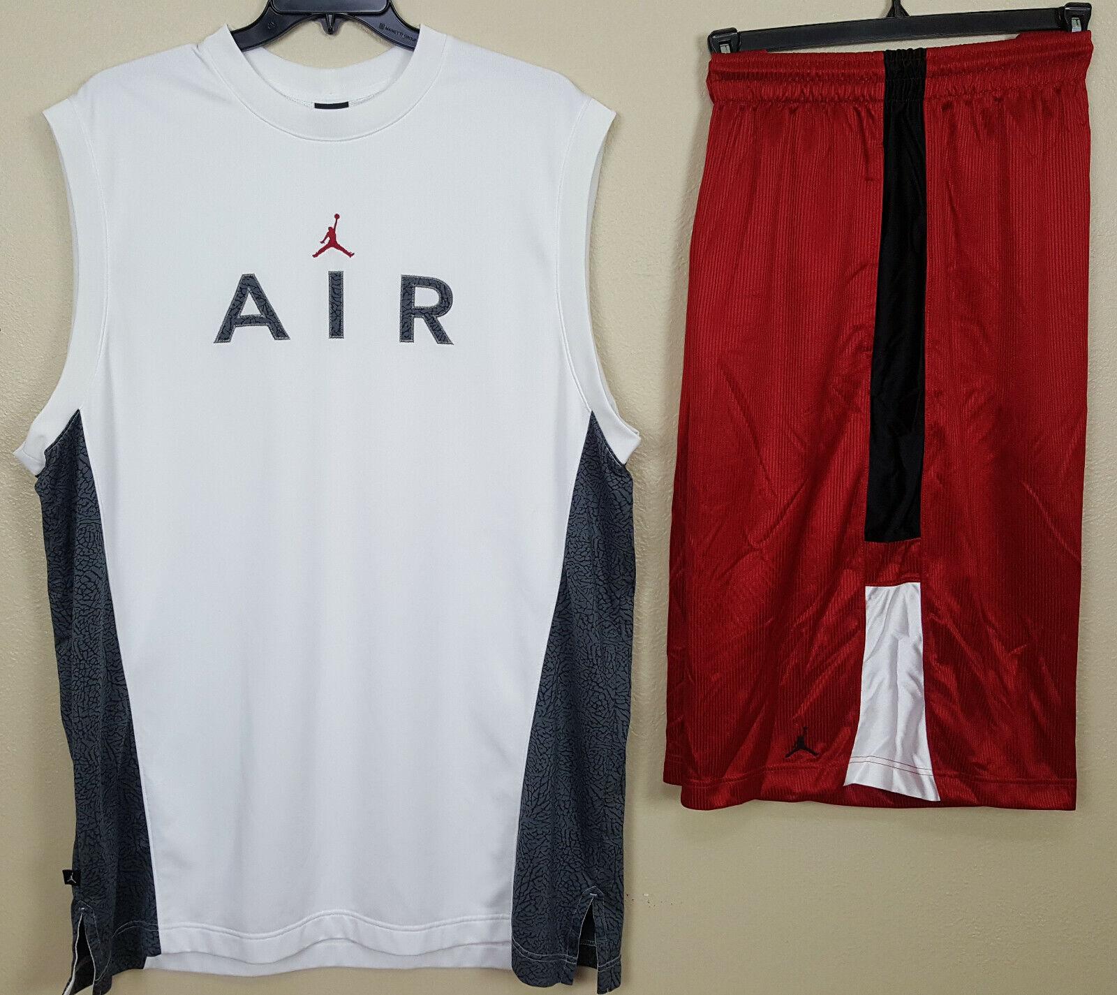 Nike Air Jordan 3 Outfit Shirt Shorts White Black Red Grey