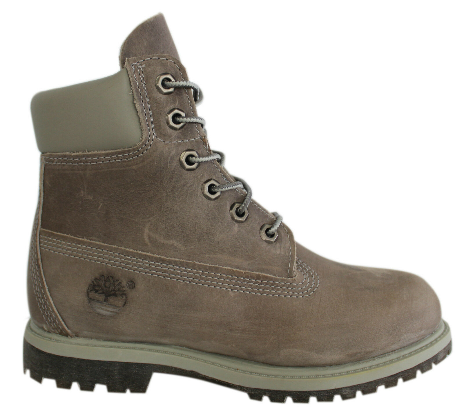 timberland af 6 inch prem womens boots grey leather lace