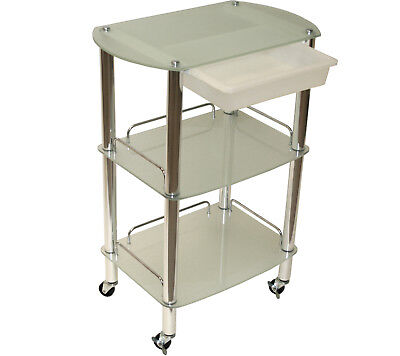 All Purpose Glass Cart Trolley Doctor Dentist Medical Trolly Spa Salon Equipment