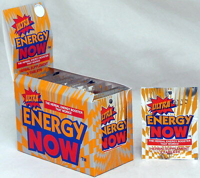 Ultra Energy Now Herbal Booster Supplements 24 packs 72 pills Diet Weight Loss (Herbal Energy Boosters)