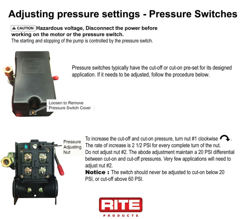 Lefoo Pressure Switch Wiring Diagram : How to adjust water pump pressure switch cut on
