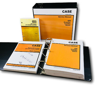 Case 450 Crawler Loader Dozer Service Parts Operators Manual 207 Diesel Engine