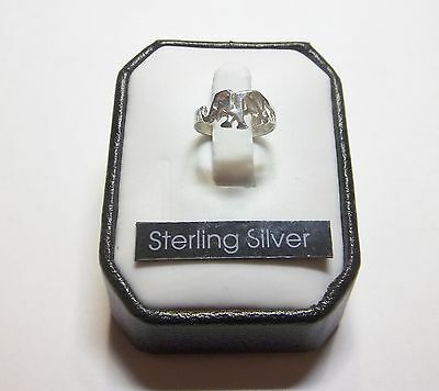 Super Cute .925 Sterling Silver Elephant Ring  sz 1 .. #R32
