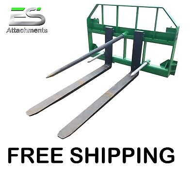 Es John Deere Combo 49 Spear 48 Pallet Forks Jd Quick Attach Skid Steer Loader