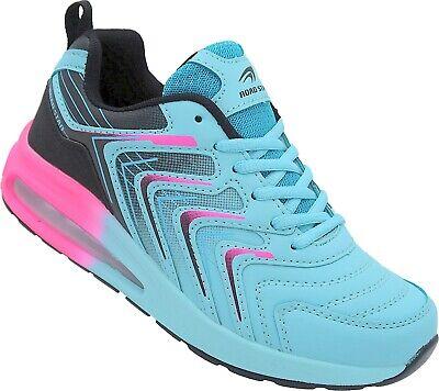 Damen Laufschuhe Sportschuhe Turnschuhe Sneaker Nr. 572 -11 blau-schwarz-fuchsia Fuchsia Damen Schuhe