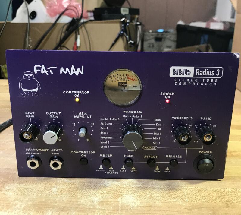 HHB Radius 3 FAT MAN FATMANSTEREO Tube COMPRESSOR Pre Amp GREAT CONDITION!