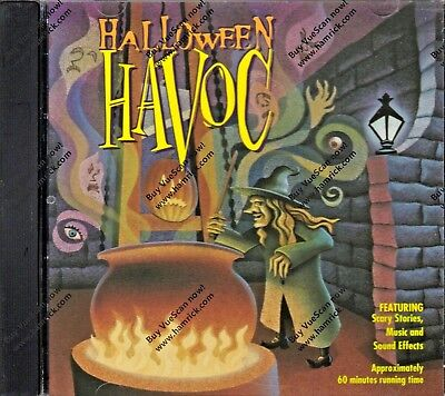 HALLOWEEN HAVOC: OVER 60 MINUTES OF SCARY STORIES, SPOOKY MUSIC & SOUNDS: K-TEL  (Halloween Over Christmas Music)