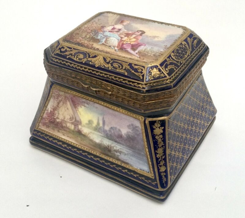 Antique Sevres Porcelain Box France