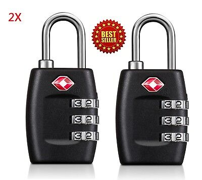 Approved Lock - 2X TSA Approved Lock Travel Luggage 3 Combination Resettable Padlock