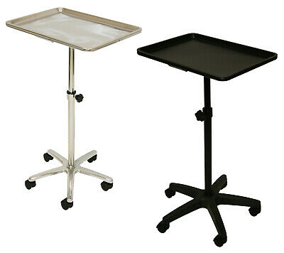 Extra Large Single Post Mayo Instrument Stand Work Tray Salon Studio Equipment