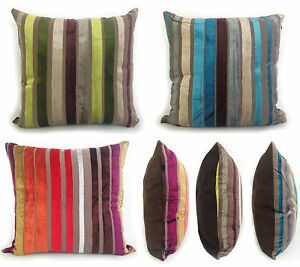 LARGE-VELOUR-STRIPE-CUSHIONS-CUSHION-COVERS-SCATTER-CUSHION-TEAL-BLUE-LIME-GREEN