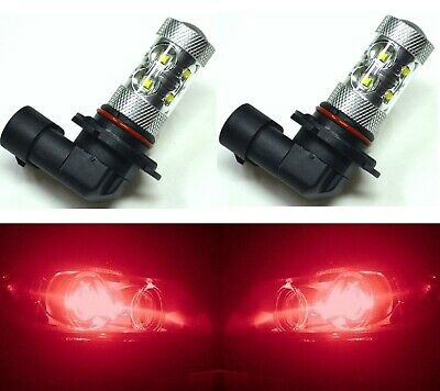 LED 50W 9006 HB4 Red Two Bulbs Head Light Replace Show Use Low Beam Lamp OE