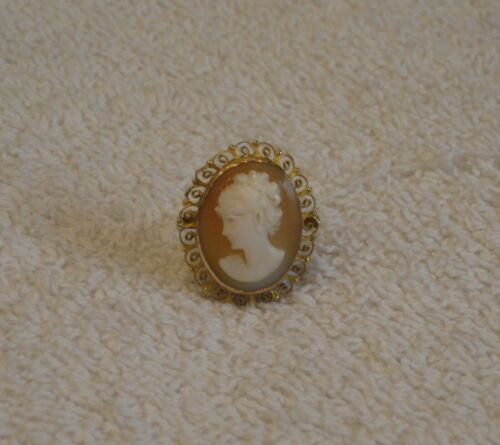 Vintage Cameo Ring 14K Gold - Size 8
