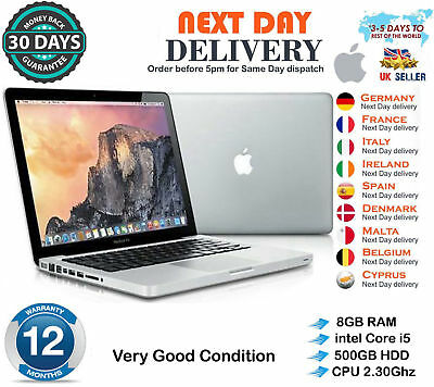 "Apple MacBook Pro 13.3"" intel Core i5 2.3GHz 8GB RAM 500GB HDD Erly 2011 A Grade"