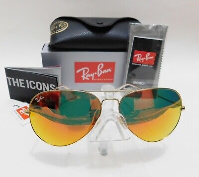 Cheap Gold Frames (Ray-Ban Sunglasses Aviator  Gold Frame Orange Flash RB3026 112/69)