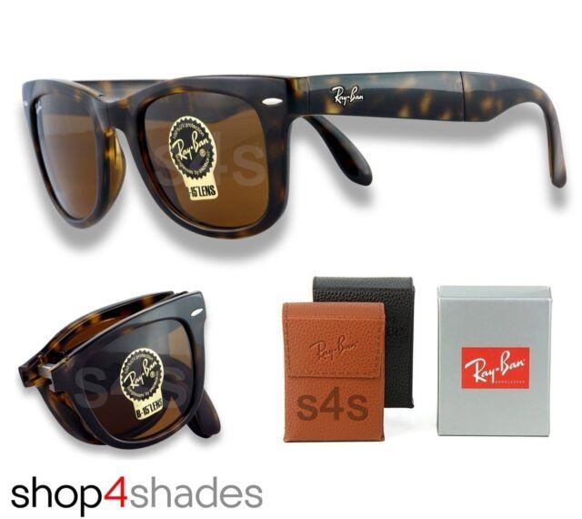 Ray Ban Folding Wayfarer Unisex Sunglasses HAVANA TORT_CRYSTAL BROWN 4105 710 50