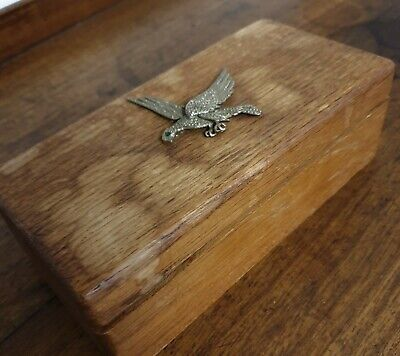 vintage wood bird decorated BOX