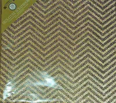 Green Gold Chevron Glitter 12