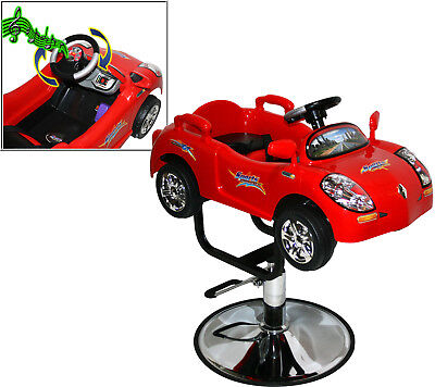 Kids Styling Chair - Children Race Car Hydraulic Child Barber Chair Styling Beauty Salon Equipment