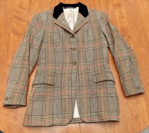 Pytchley vintage coat jacket foxhunt tweed hacking ladies 34s