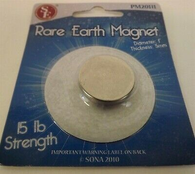 Super Strong 1 X 5mm Neodymium 15lbs Rare Earth Magnet Brand New