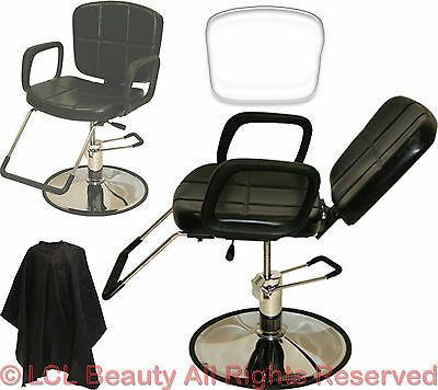 Hydraulic Reclining All Purpose Styling Barber Chair Sham...