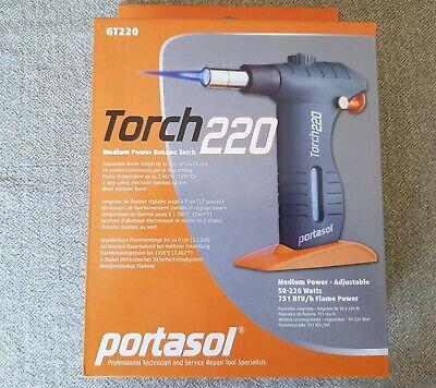 Portasol Gt220 Medium Power Butane Torch 50-220 Watts 751 Btuh Flame Power