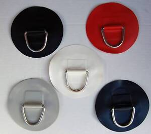 1 x INFLATABLE BOAT PVC D RING LARGE ROUND PATCH WATERCRAFT PARTS